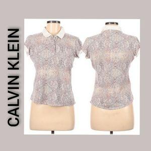 CALVIN KLEIN Police Shirt Short Sleeve Size Medium